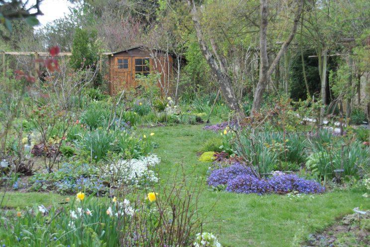 Jardin privé d'André Ève. La fameuse cabane a été remise à neuf. ©Malorie Hicorne