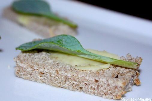 Toast de feuilles d'huitre végétales