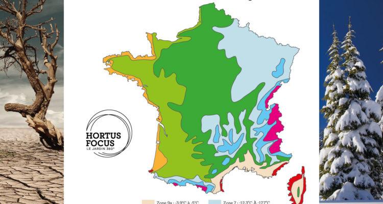 Carte des zones de rusticité en France 2021