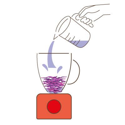 aquarelle au chou rouge : le mixage