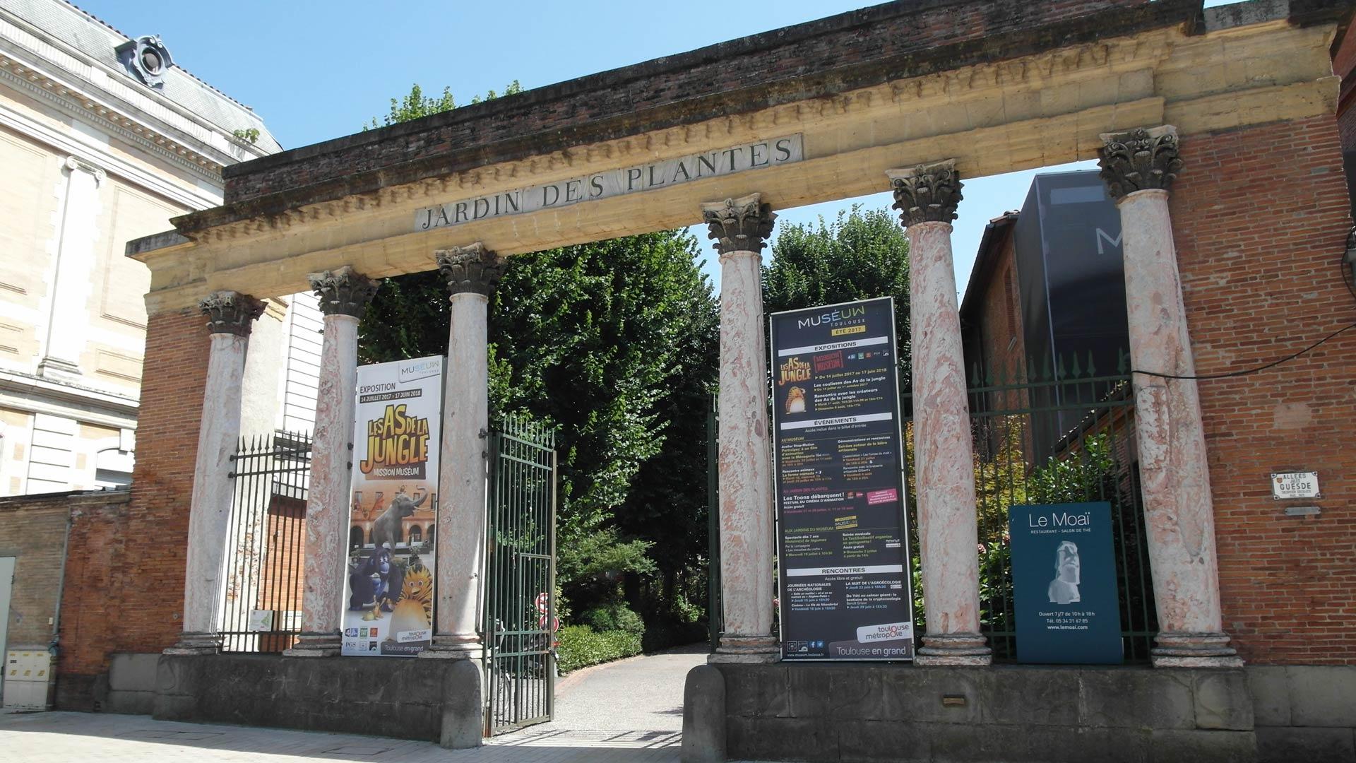 Entrée du Jardin des plantes de Toulouse