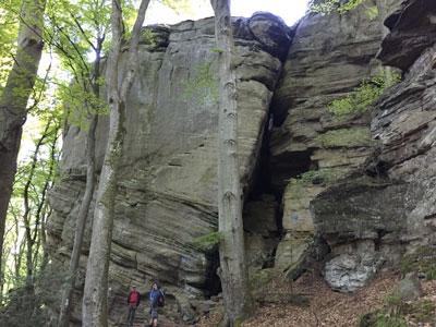 Mullerthal - rocher Le fonctionnaire paresseux
