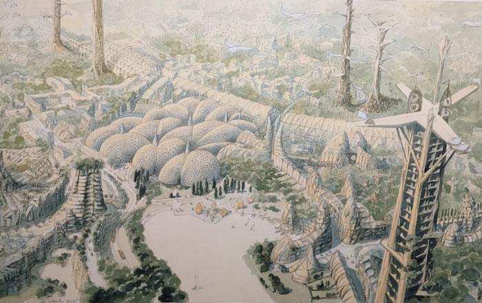 Cités idéales : Louvain la Neuve en 2100