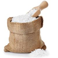 lentilles aux lardons : sel gros