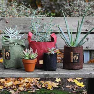 Pots de fleurs géotextiles