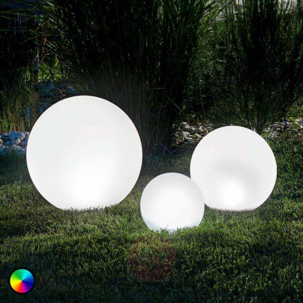 solaires : Set de 3 lampes à changement de couleurs