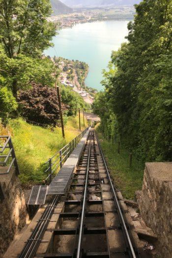 Montreux : Vue du funiculaire