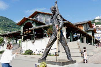 Montreux : statue de Freddie Mercury