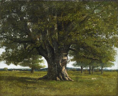 Courbet, Le chêne de Flagey