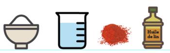 Peinture à la farine : ingrédients