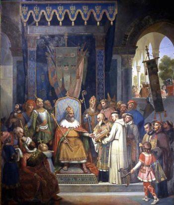 Charlemagne et Alcuin - Hortus Focus