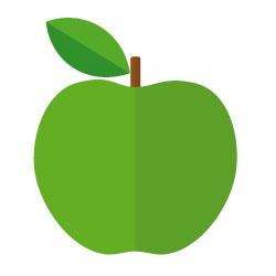 sucre :  pomme