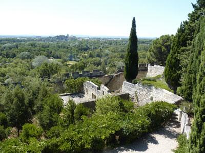Abbaye de Saint-André - le jardin avec vue sur Avignon