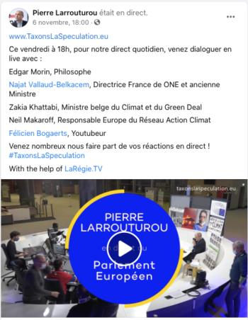 FB Live -Pierre Larrouturou
