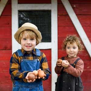 Enfants et œufs