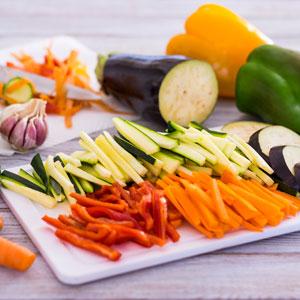 lactofermentation : découpe des légumes