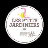 Logo violet des P'tits Jardiniers