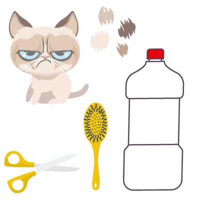 recyclage poils de chat : les ustensiles