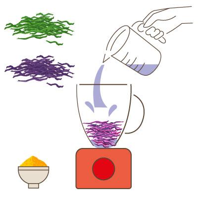 craies végétales : le mixage