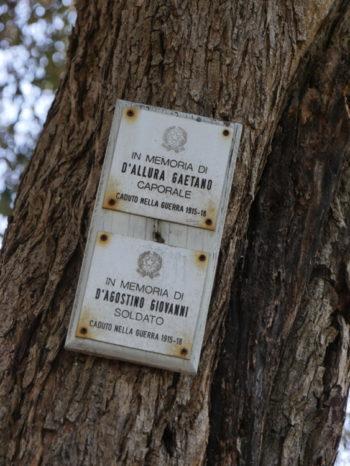 Plaque commemorative Taormine