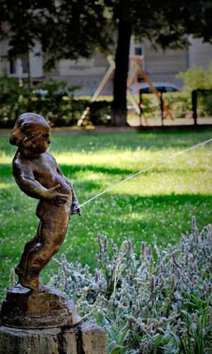 L'urine : statue
