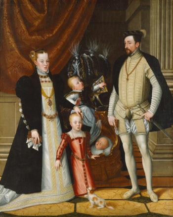 Portrait de Maximilien II de Habsbourg et de sa famille, de Arcimboldo