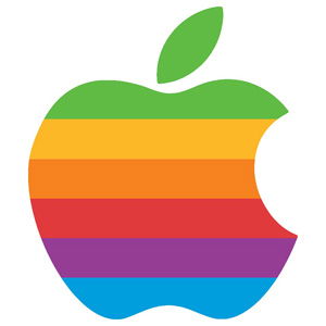 logo apple arc-en-ciel