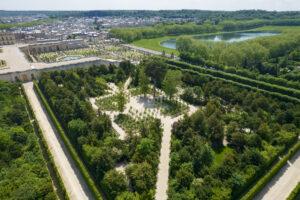 Vue aérienne du bosquet de la Reine restauré © château de Versailles