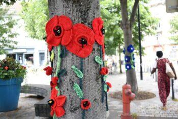 Fleurs tricotées Mulhouse